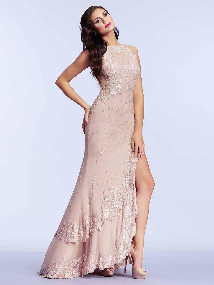 #nude #evening #dress / Wieczorowa suknia w przepięknym odcieniu pudrowego różu!