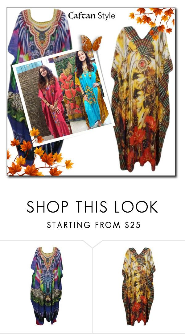 Boho Chic Resort Wear Maxi Caftan Dress My Polyvore Outfit