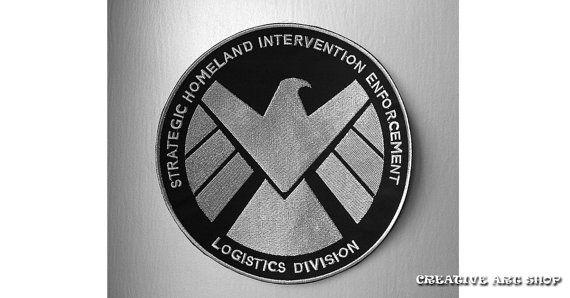 Agents du Shield - XL 9 » taille vestes de moto coudre/fer sur Patch