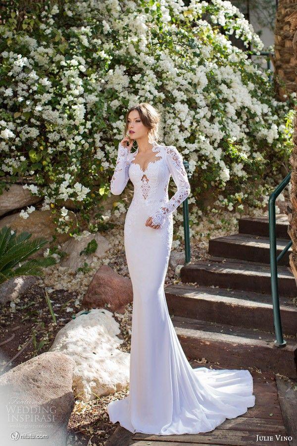 wedding dress 2017 vestido de noiva Hollow Out Backless Full sleeves Satin Sexy Sweetheart Mermaid Dresses New Arrival LZ140