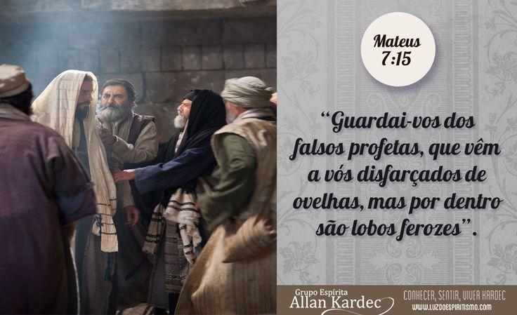 """""""Guardai-vos dos falsos profetas, que vêm a vós disfarçados de ovelhas, mas por dentro são lobos ferozes"""". Mateus 7:15"""