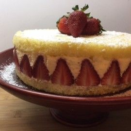 Torta de frutillas Frasier