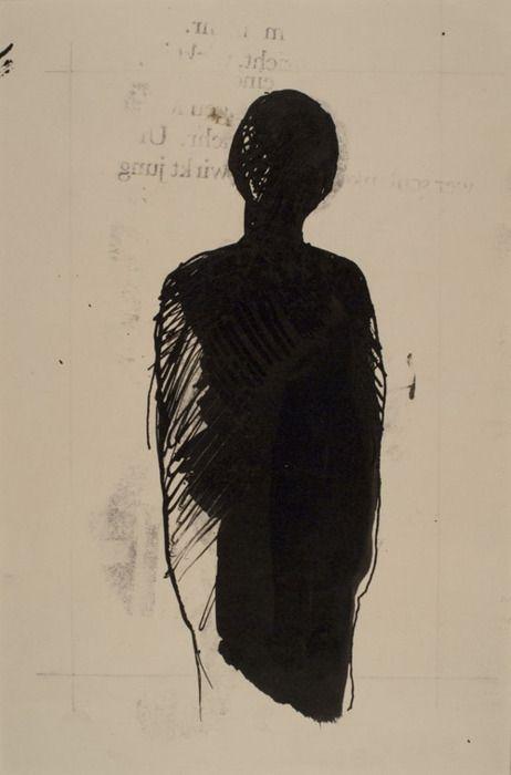 Untitled (Black Figure), 1965-67 - By Jiří Balcar
