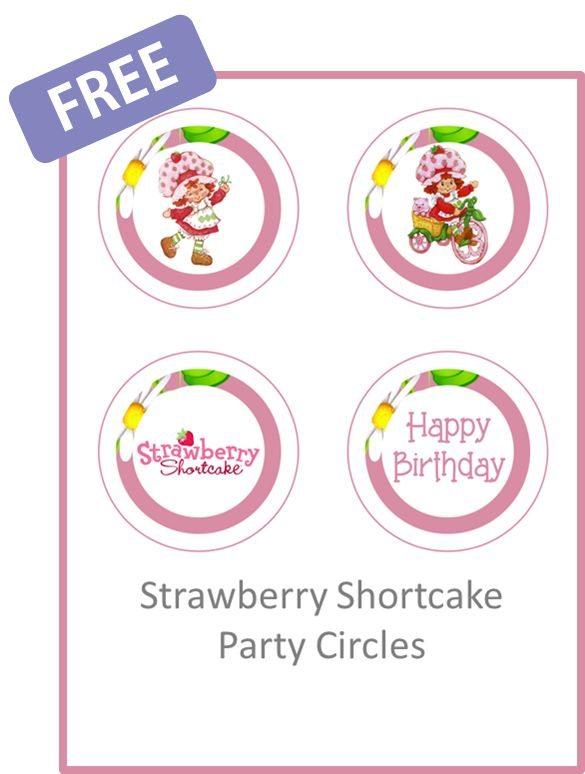 208 best Strawberry shortcake party images on Pinterest ...