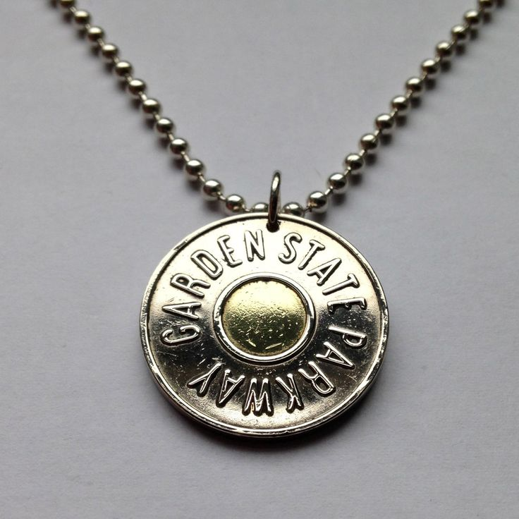 1990's USA NJ New Jersey GSP Garden State Parkway Car Transportation Transit Highway Token coin pendant charm necklace Car Fare No.001228 by acnyCOINJEWELRY on Etsy