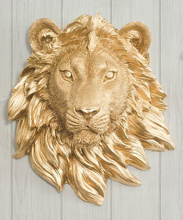 Another great find on #zulily! Gold The Sahara Mini Lion Head Wall Décor #zulilyfinds