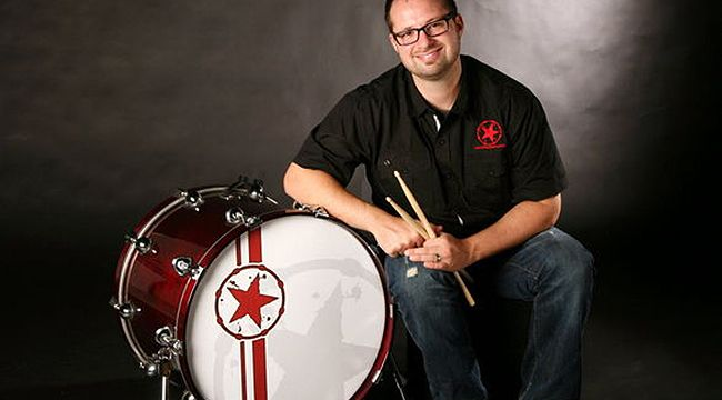 "Dominic Tancredi: Marching to the beat of a custom drum head | Whopperjaw  ""How you look is as important as how you sound,"" says Dominic Tancredi, whose company, Woodshed Stage Art, created the custom drum heads for Bruno Mars recent Super Bowl performance."