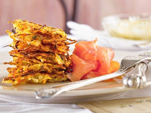 Hash brown with smoked salmon and lemon cream The perfect breakfast in bed idea or a special creation for mother's day