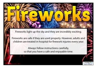 Fireworks Safety Posters