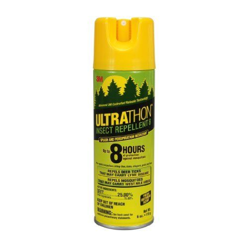 3M Ultrathon Insect Repellent, 6-Ounce Spray (SRA-6) by 3M. $7.62. 3M Ultrathon Insect Repellent 8oz. Clothing & Gear is for treatment of Clothing, Gear, Bed Nets, Tents, Sleeping Bags and Backpacks.  Repels Mosquites and Ticks.  Lasts for 6 weeks even through 6 laundering cycles.  Keeps insects from bithing through fabric.  Oderless after application.  Will not stain or damage clothing, fabrics, plastices, finished surfaces, or outdoor gear.  Contains 0.50% Permethrin...