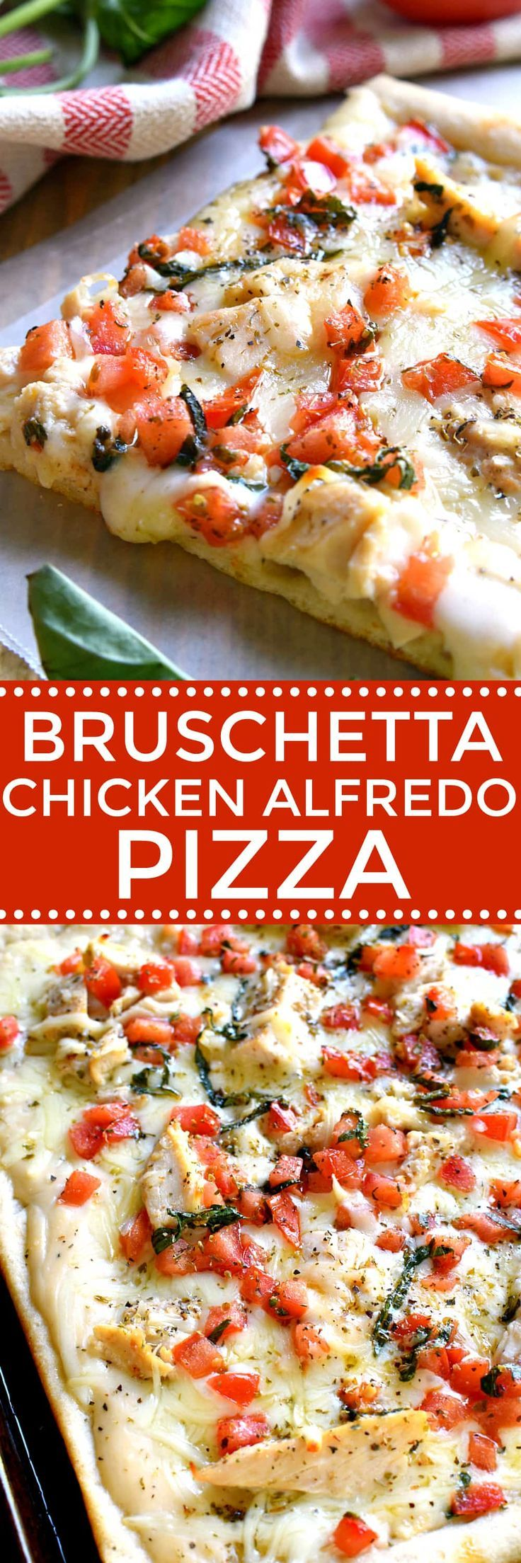This Bruschetta Chicken Alfredo Pizza is a little taste of Italy, right in your own kitchen! Packed with delicious flavor and ready in under 30 minutes, this pizza is perfect for family night, date night, or a fun night with friends! #sponsored @classicopastasauce