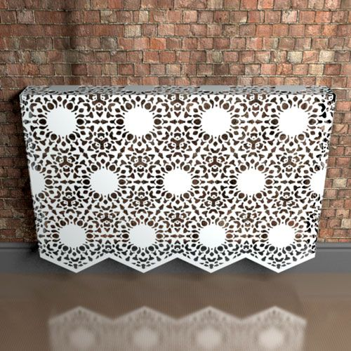Nottingham  Lace  Fancy Pattern Wall mounted Radiator cover by Couture Cases