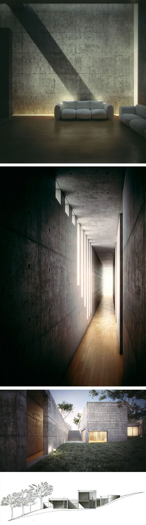 I love the light in this - Koshino House by Tadao Ando