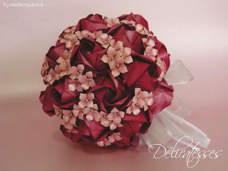 buquê de origami pink rosa                              …