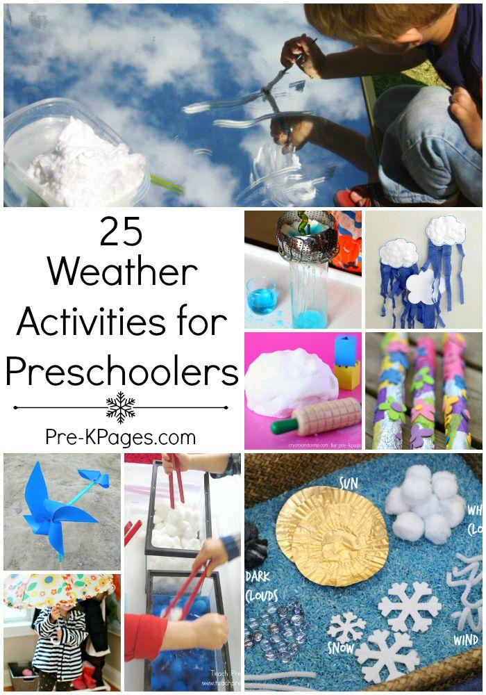 Weather Activities For Preschoolers Activities Image
