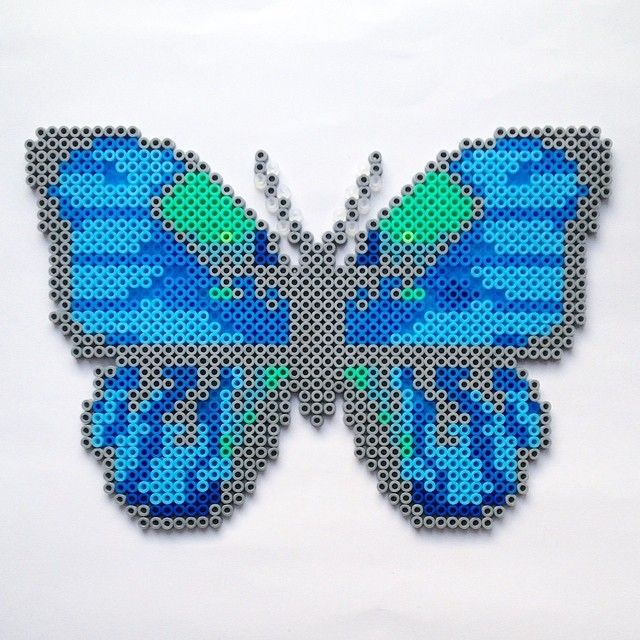 butterfly hama perler beads by coriander dk strijkkralen en patronen pinterest papillons. Black Bedroom Furniture Sets. Home Design Ideas