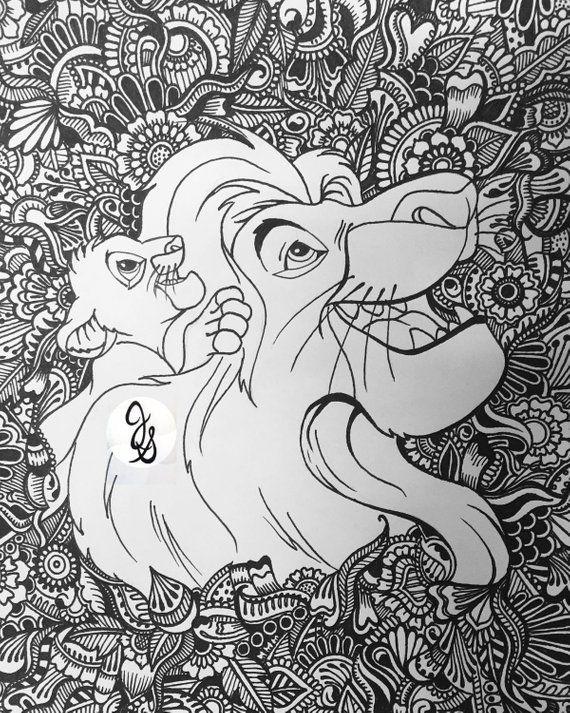 Lion King Design Etsy Mandala Coloring Pages Disney Coloring Pages Mandala Coloring