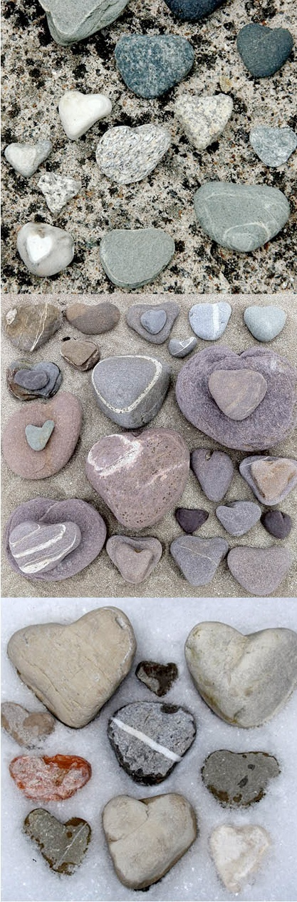 "Stone hearts  NO!  They are a special class of matter known as Heartrocks, with a capital ""H"" because the communicate messages of infinite love from the Creator; the worlds newest/oldest Bible verses!"