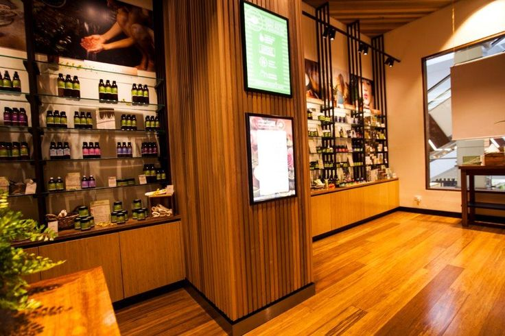 Cedar Sales' Castelation® and Screenclad Western Red Cedar panelling was a natural complement to the Perfect Potion stores #woodpaneling #cedar #westernredcedar #perfectpotion #sustainable #organic @perfectpotion