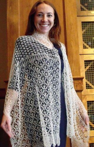 Lace shawl by Sheila Fowlie
