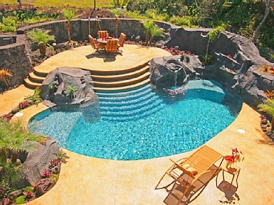 Paradise Pali Kai (formerly Wailele Kai) Luxury W/Waterfall Pool Fully Air  CondVacation Rental In Hilo From