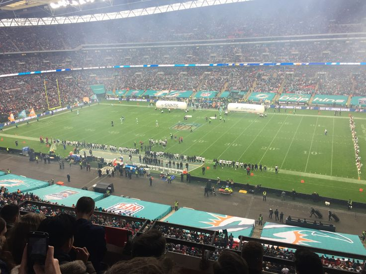 Miami Dolphins v New Orleans Saints pre-game at Wembley Stadium 2017.