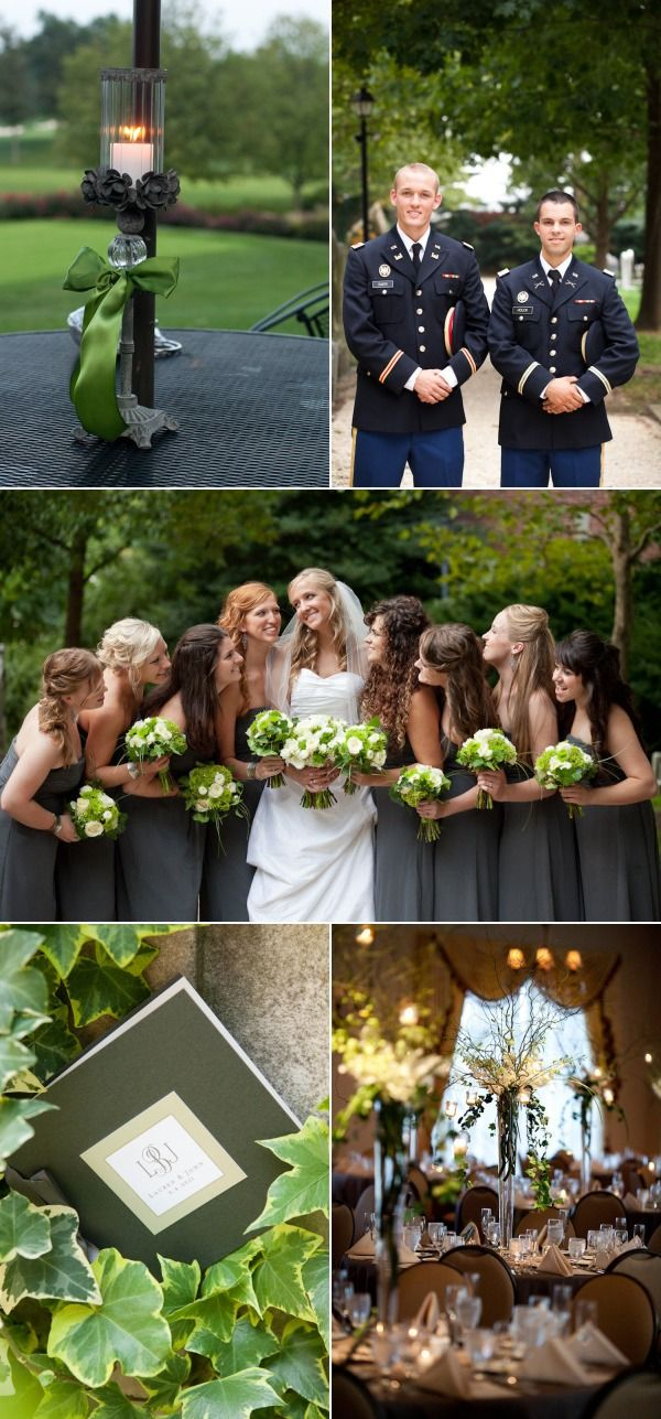 Wilmington Country Club Army Wedding from mk Photography | Style Me Pretty Love the flowers