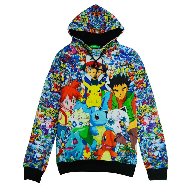 pokemon pikachu pikachu hoodie harajuku kawaii winter hoodie autumn 2016 women japan style clothes 3d moletom #Affiliate