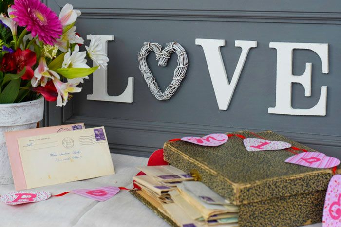 """A DIY """"LOVE"""" letter sign. Learn more at: www.theprairiechick.com"""