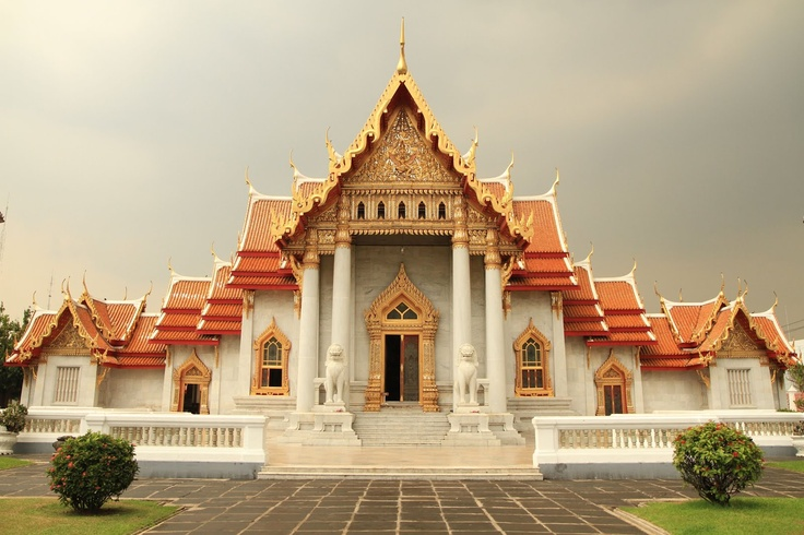 Templo marble in Bangkok, Thailand.