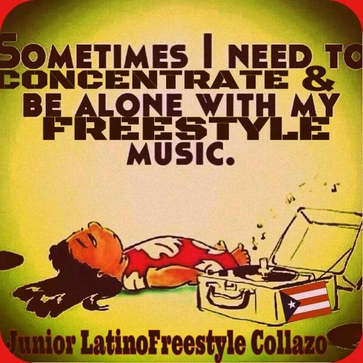 Yes! I need my freestyle music to keep me sane