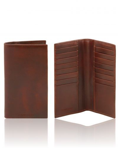 TL141495 Exclusive vertical leather wallet/credit cards holder