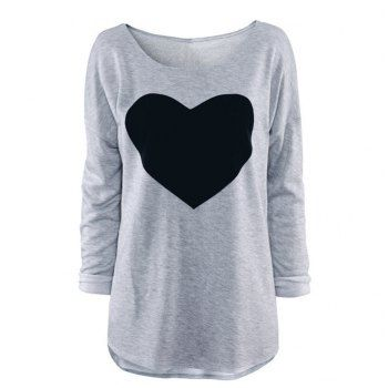 SHARE & Get it FREE   Women's Heart Pattern T-Shirt Long Sleeve Crew Neck TopsFor Fashion Lovers only:80,000+ Items·FREE SHIPPING Join Dresslily: Get YOUR $50 NOW!