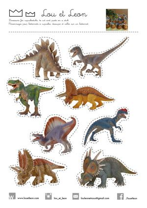Dinosaurs Party for kids! Make your own cupcakes sticks dinosaurs!!! Free printables download pdf for your BirthdayParty! Visit our website with all our ideas!!!