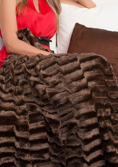 snuggle into this faux fur mink throw that is as soft and luxurious as real fur #thiscounts #throwblanket #homedecor #onlineshopping
