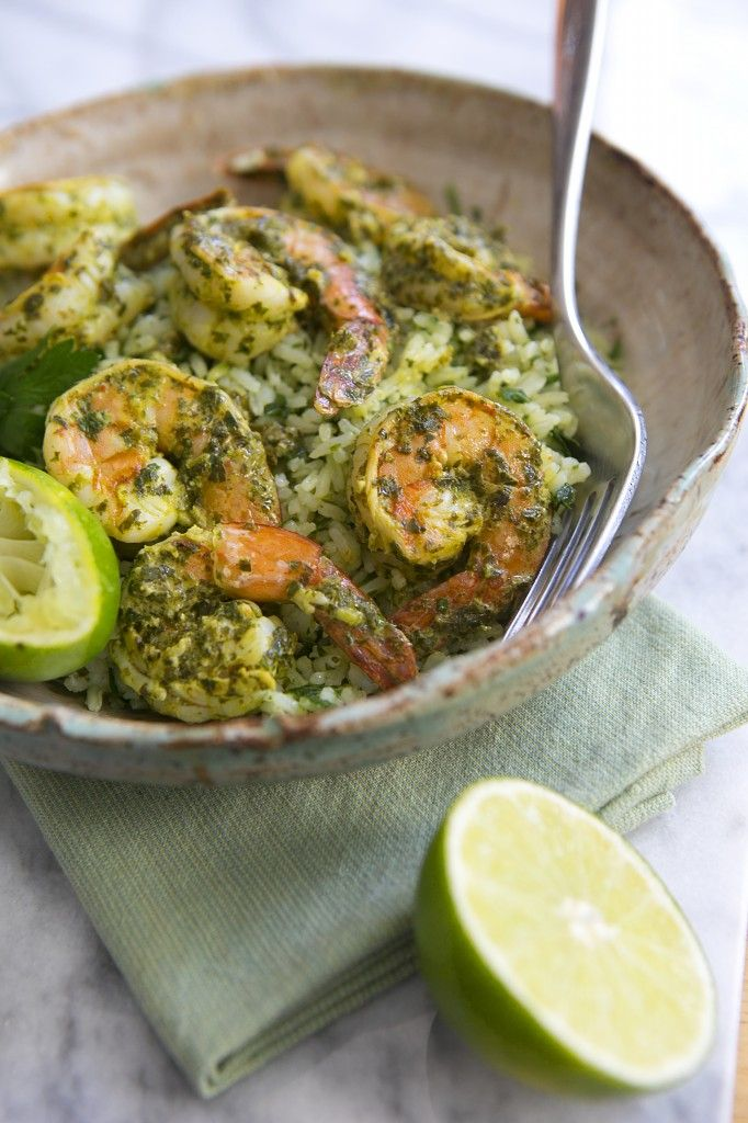 Chimichurri Shrimp with Lime-Herb Rice   A Pioneer Woman Cookbook Giveaway