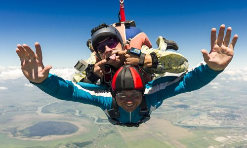 Skydive: Go extreme with a tandem skydive adventure Flight Simulators. Experience what it's like to fly! Experience provided by local area provider.