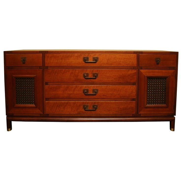 Fine Bert England Walnut Sideboard for Johnson Furniture | From a unique collection of antique and modern sideboards at https://www.1stdibs.com/furniture/storage-case-pieces/sideboards/