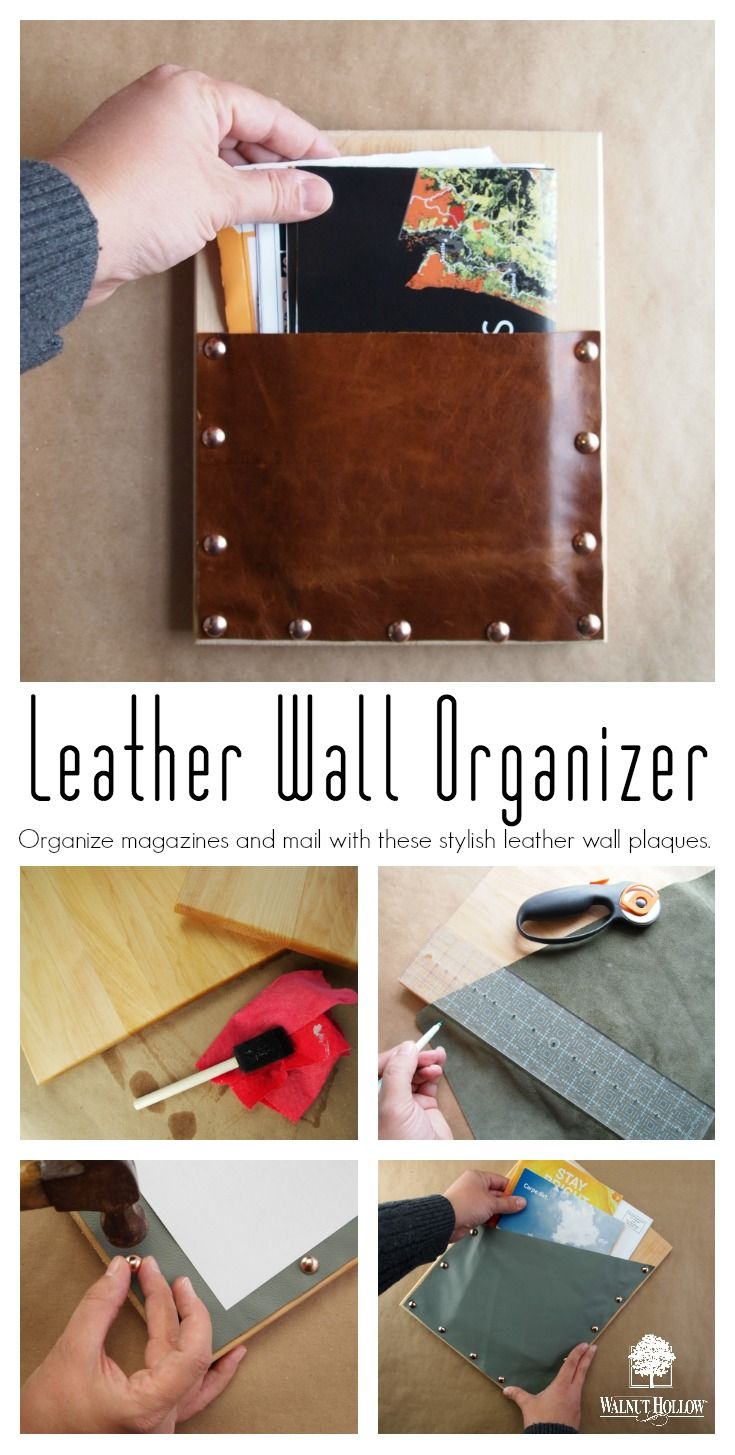 Organize magazines and mail with these stylish leather wall plaques! [spon]
