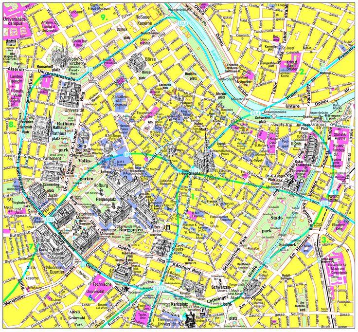 Vienna Inner City Tourist Map - Vienna Austria • mappery