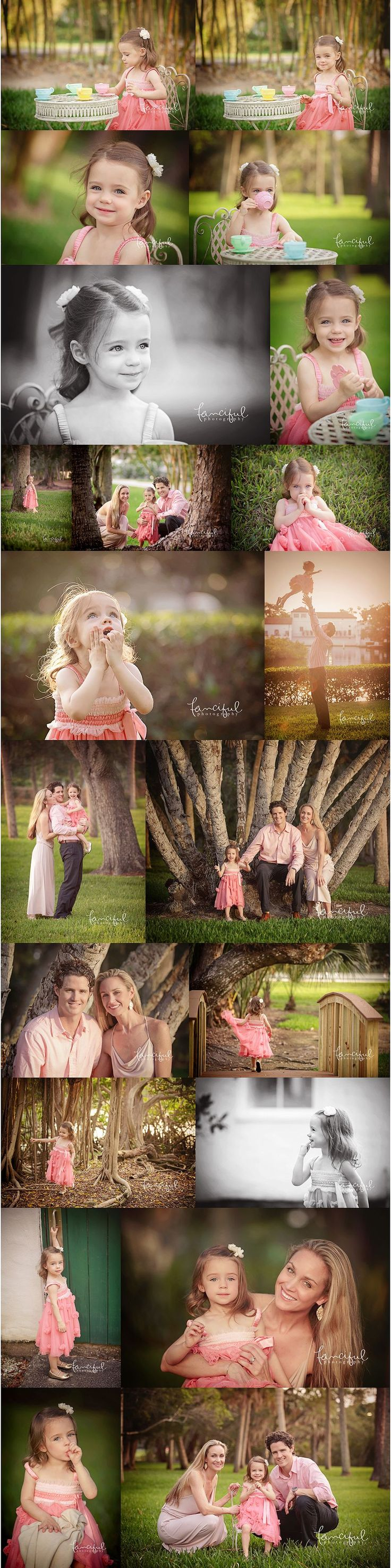 Lifestyle child portraits.  Tea party portraits.  Toddler portraits, Family Portrait session. Sarasota Child and Family Photographer | http://fancifulphotography.com