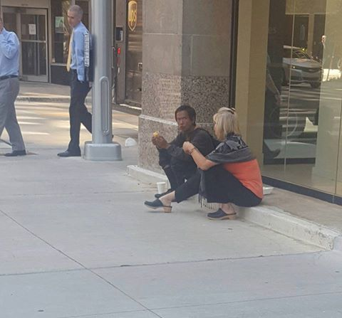 Today on the streets of DOWNTOWN OKC, I passed a man simply asking for change as…