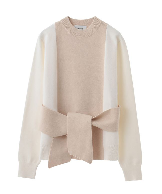 WAIST RIBBON KNIT TOPS|CLANE|CLANE OFFICIAL ONLINE STORE