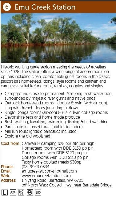 Emu Creek Station, more information: http://www.australiasgoldenoutback.com/Listing/Emu_Creek_Station