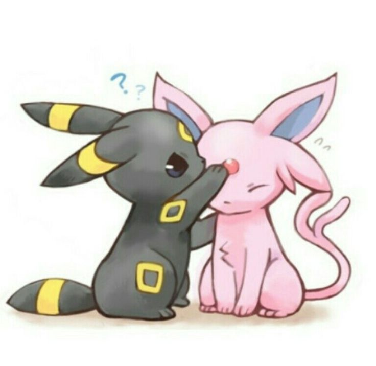 Espeon and Umbreon | Eeveelutions | Pinterest