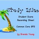 Study Island Student Score Recording Sheet