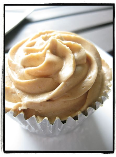 DIY peanut butter cupcake frosting