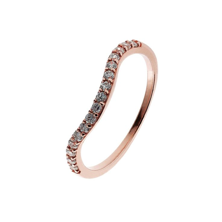 Oxette Rose Gold Silver 925 Ring with zircons - Available here http://www.oxette.gr/kosmimata/daktulidia/ster.silver-rose-gold-pl.ring-white-cz-632l-1/    #oxette #OXETTEring #jewellery