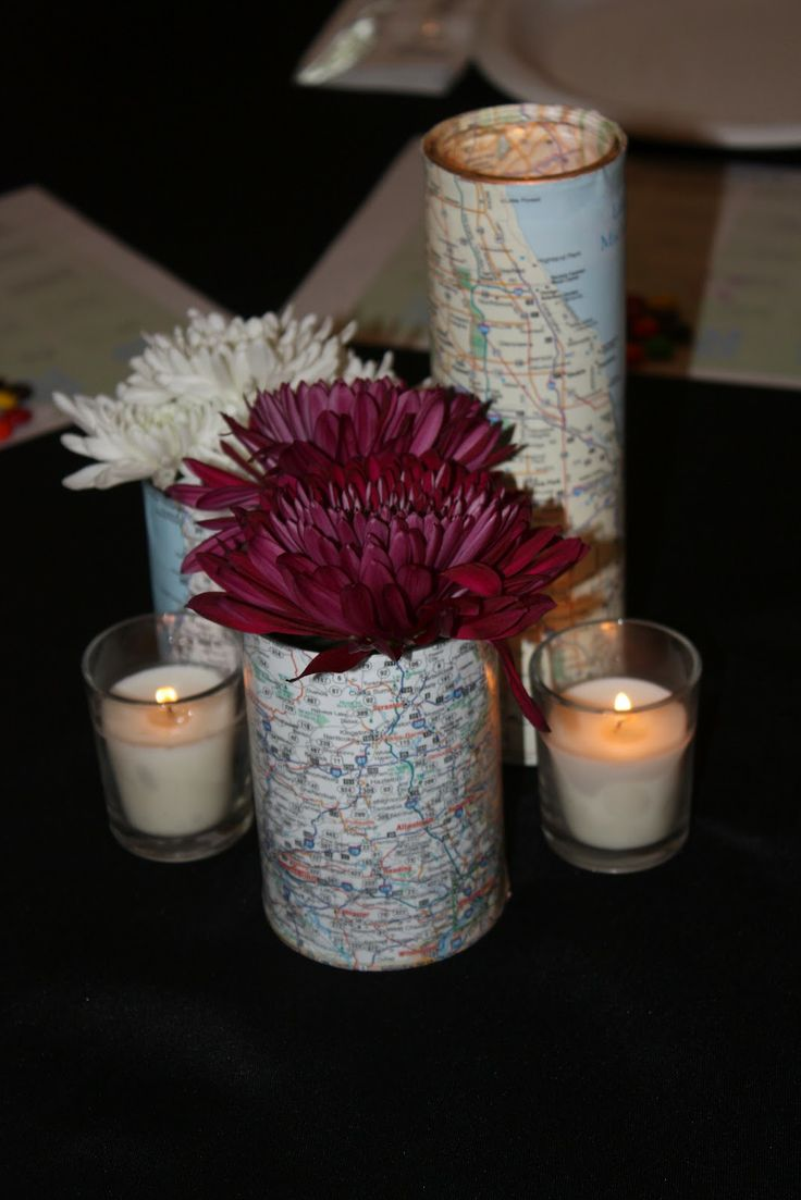 These could be table center pieces/decor for any table, or all the dining tables? Something like that. Pretty simple. Maybe w/o candles