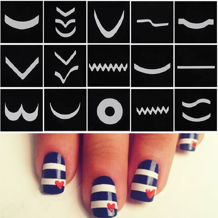 624 best nail designs images on pinterest nail designs diy 18 sheetset french manicure nail art tape stickers diy stencil nail patterns decals for prinsesfo Gallery